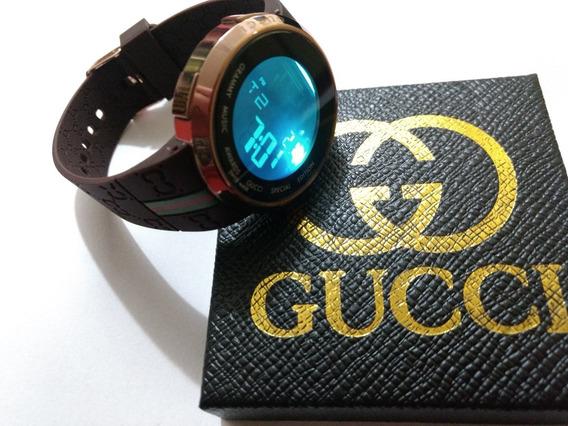 Relógio Digital Feminino Gucci Pulseira Marron.
