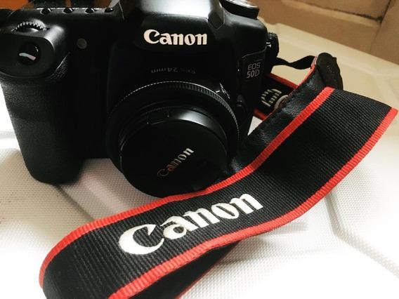 Máquina Fotográfica Canon Eos 50d, Com Lente Ef-s 24mm F/2.