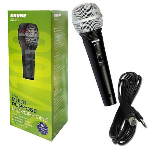 Micrófono Dinámico Shure Sv100  Voz Karaoke + Cable - Oddity