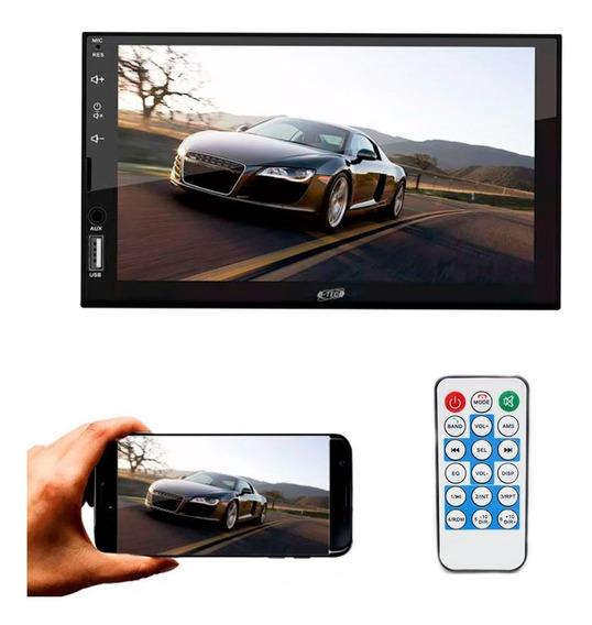 Central Multimídia Player Universal 7 Bluetooth Espelhamento