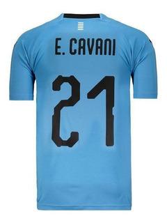 Camisa Puma Uruguai Home 2018 21 E. Cavani