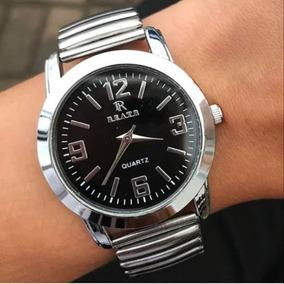 Relógio Feminino Com Pulseira Elástica Prata