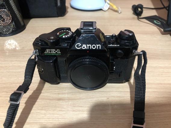 Canon Ae-1 Program Revisada Preta Rara