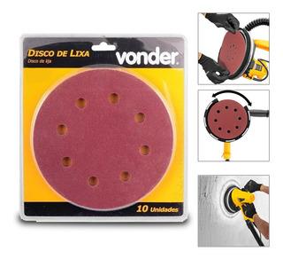 Disco Lixa Lixadeira Teto Lpv 750 C/ 10 Pçs Grão 120 Vonder