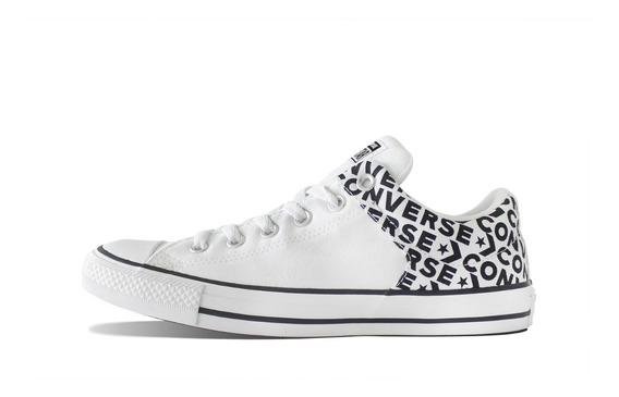 Tenis Converse Blanco Letras Choclo All Star Originales