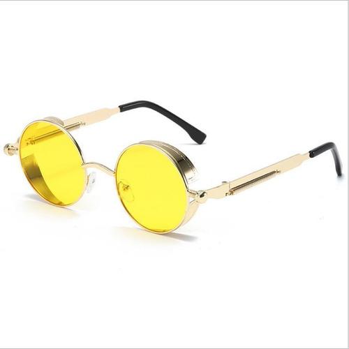 Imagen 1 de 5 de Gafas De Sol Redondas Steampunk Uv400 Hombre Mujer