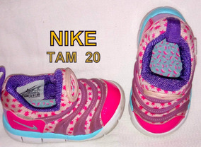 Tenis Nike Original Importado Menina Rosa / Roxo Tamanho 20