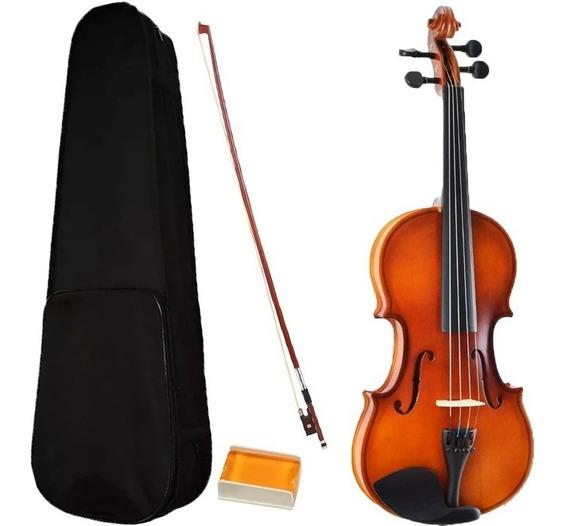 Violino 1/8 Infantil Pequeno Madeira Estojo Arco Sverve