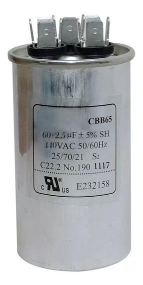 Capacitor Duplo 60 + 2,5uf 440vac P/ Ar Condicionado Split