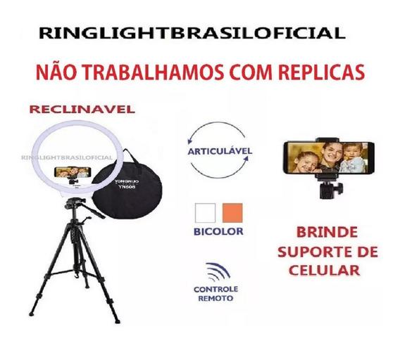 Yn608 Ring Light Yongnuo + Sup Celular + Tripé Reclinavel