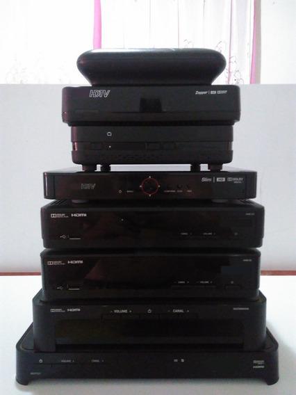 Receptores Para Tv Digital - Lote Com 7 Pçs Em Estado De Sucata