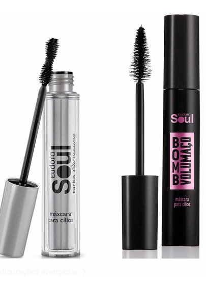 Máscara Soul Curvíssima 7ml + Bomb Volumaço 10ml Eudora