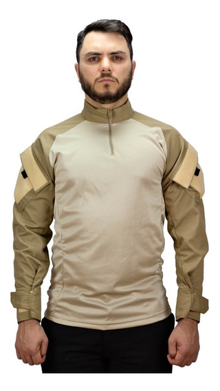 Camisa Camuflada Tatica Airsoft Militar Reforçada.004