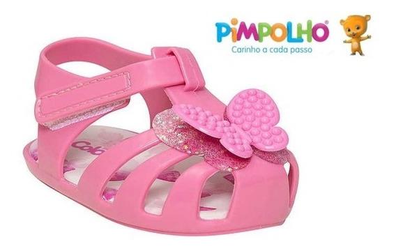 Sandália Sapato Feminina Rosa Infantil Colorê Pimpolho