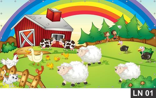 Imagem 1 de 5 de Fazendinha Painel 6,00x3,00m Lona Festa Aniversários