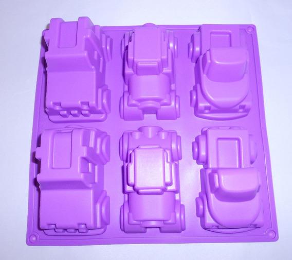 Molde Silicon Figura 6 Carritos Jeep Auto Medianos Amyglo