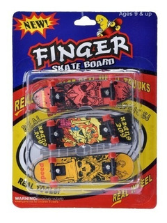 Set X 3 Mini Patineta Skate Dedos Finger Boards Juego
