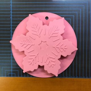 Molde De Silicón Rosa En Forma De Copo De Nieve Cap. 500 Ml