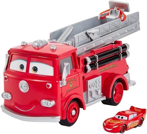 Disney Cars Bombero Rojo Con Agua Accesorio Acrobacias Gph80