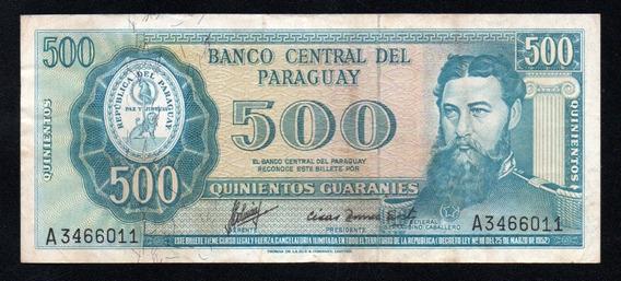 Paraguay Billete 500 Guaranies Año 1952 P#200