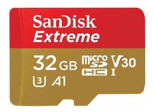 Cartão De Memória Micro Sd Sandisk Extreme 100m 32 Gb