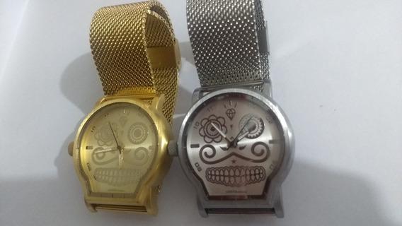 Relógio Chillibeans Caveira Mexicana Malha