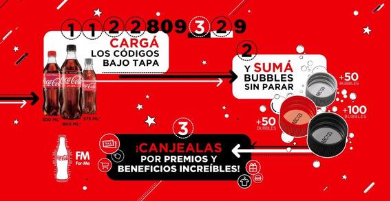 Bubbles 1100 Coca Cola For Me 2020 Codigos Siempre Con Stock