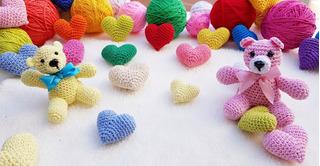Souvenir Osos Coloridos Al Crochet - Amigurumi