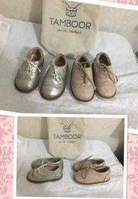 Zapatos Oxford Niña Rosado Y Plateado Marca Tamboor