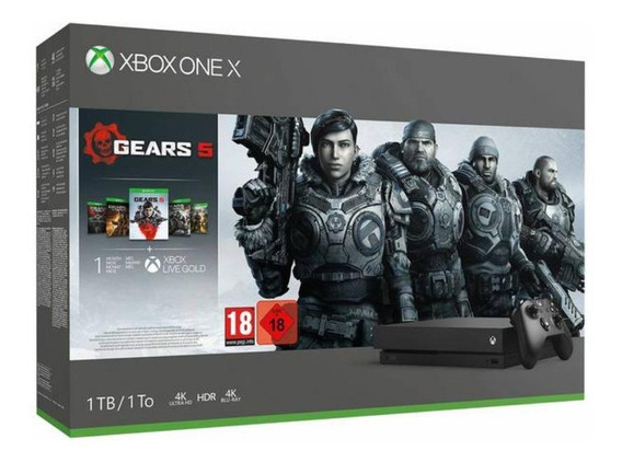 Microsoft Xbox One X 1TB Gears 5 Limited Edition black