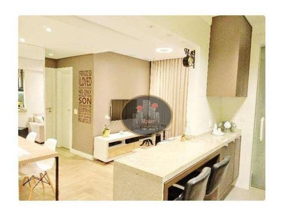 Apartamento Em Santos, Alto Padrão, Ponta Da Praia - Ap3095