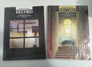 Revista Architectural Record De Agosto Y Septiembre Del 1987
