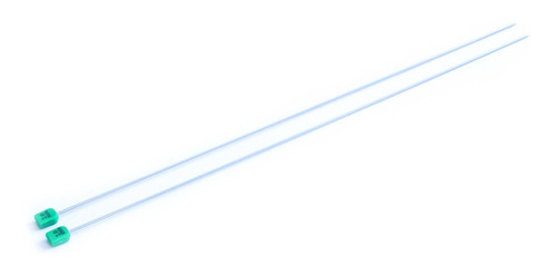 Imagen 1 de 1 de Par De Aguja Para Tejer Recta Tricot Nro. 2 Aluminio