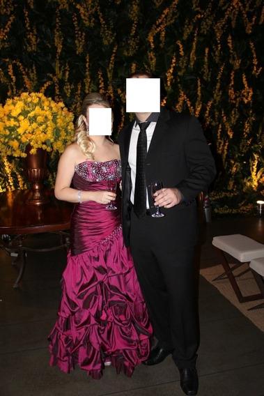 Vestido De Festa - Bordado - Pedraria