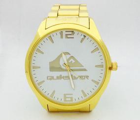 Relógio Quiksilver Dourado Mod:51717 - (1ª Linha)