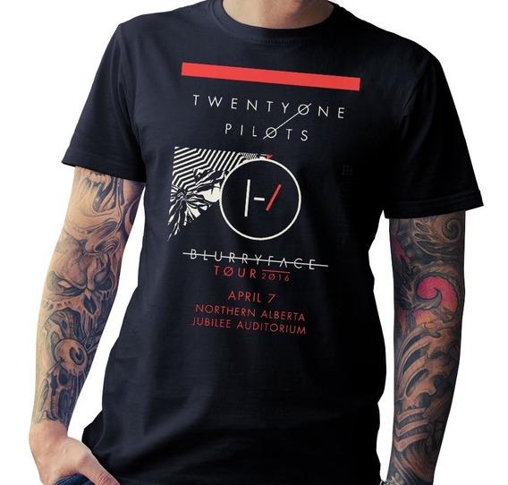 Remera Twenty One Pilots - Lollapalooza - El Mejor Algodon