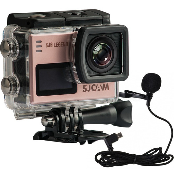 Câmera Sjcam Sj6 Legend 4k Microfone+ 32gb + Bastao Controle