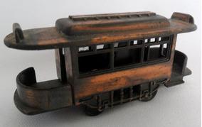 Vagão De Trem Antigo Miniatura Metal Apontador De Lápis