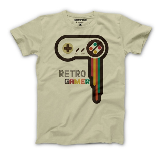 Playera Grapics Retro Gamer Camiseta Geek Nintendo Snes