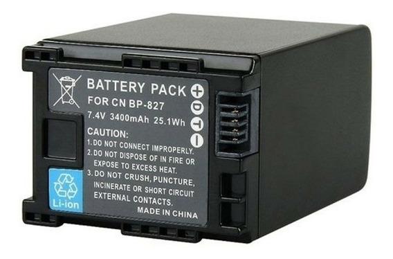 Bateria Bp827 Para Canon Hf-10, Hf-g20, Hf-m30, Hf-s100