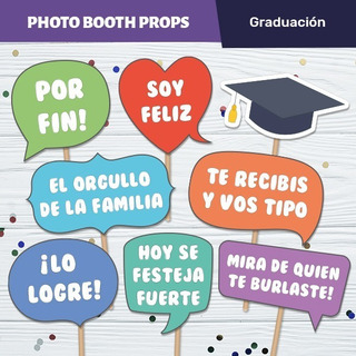 Photo Props Graduación Egresados Carteles Imprimibles
