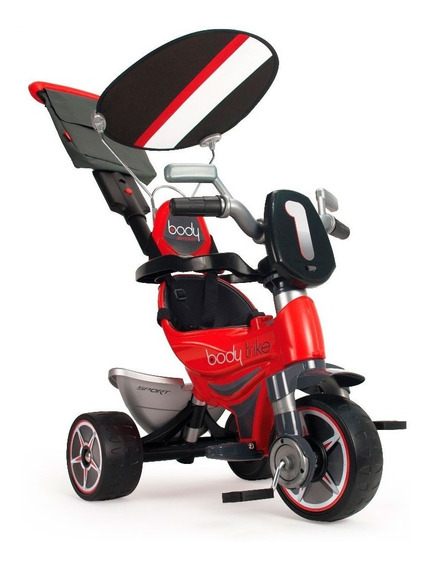 Triciclo Montable Paseo Body Sport Rojo Capucha Injusa