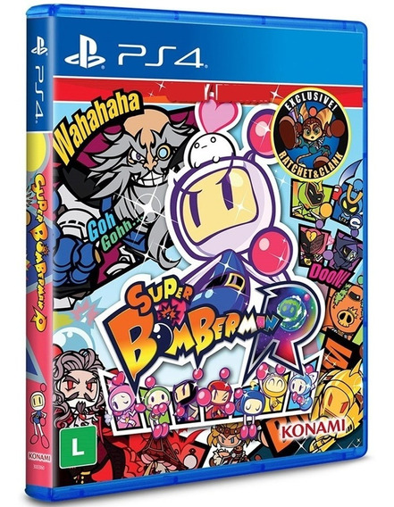 Jogo Super Bomberman R Ps4 Midia Fisica Original Nacional Br