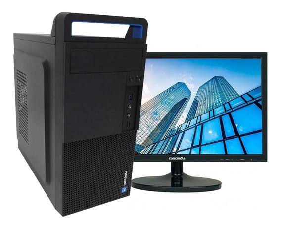 Computador Concórdia +monitor 19,5 I3 6100 4gb Ddr4 Ssd120