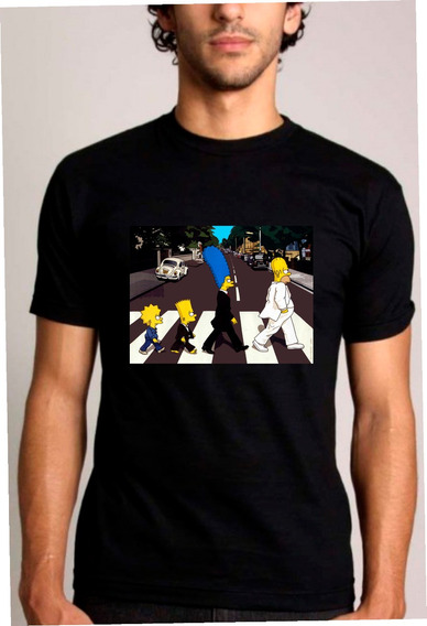 Baby Look Ou Camiseta Simpsons Beatles