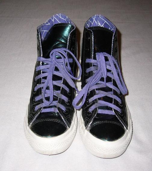 Zapatillas Botas Converse Brillosas En Talle 38