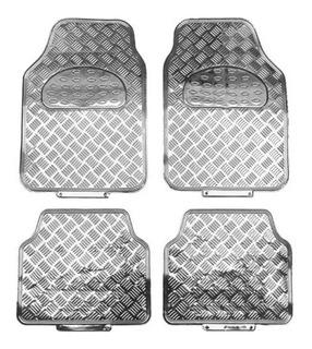 Alfombras Simil Aluminio Tuning 4 Piezas