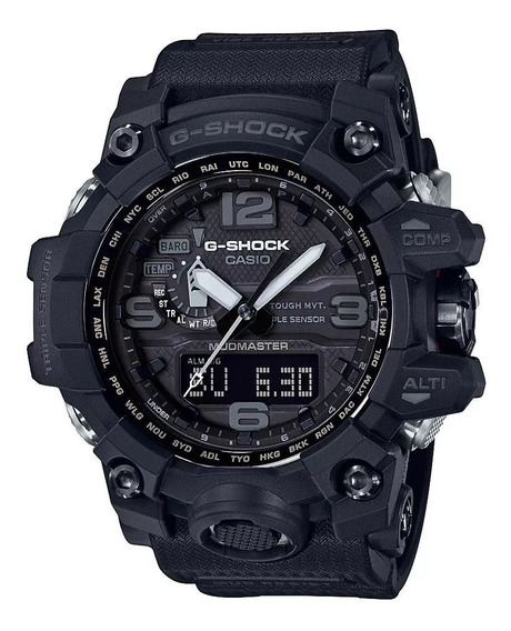 Relógio Casio G-shock Gwg1000-1a1 Full Black Solar 6 Band...