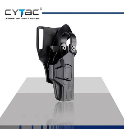Vioaplem Ej/ército CQC Airsoft T/áctico Cintur/ón Funda Compacta Deber Lock Release Diestro For HK USP Pistoleras Color : Black