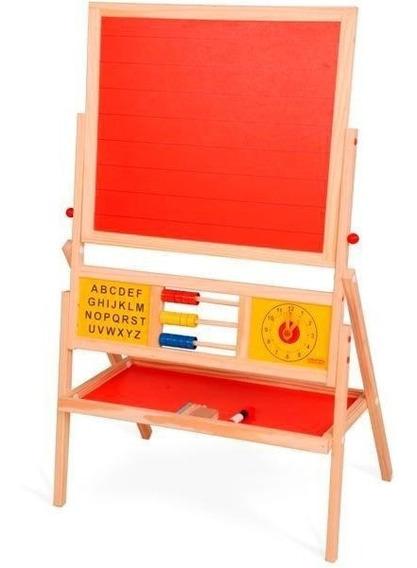 Lousa Infantil Quadro Brinquedo Educativo Pedagógico Madeira